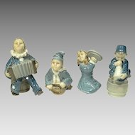 Royal Copenhagen 4 Piece Children's Band Figures