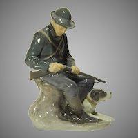 Scarce Royal Copenhagen Figure Hunter & Dog #1087