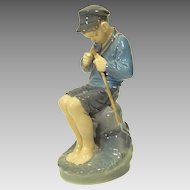 Royal Copenhagen Figure Boy Whittler #905