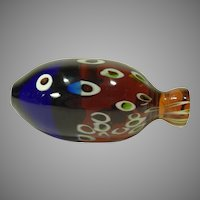 Galliano Ferro Mid Century Venetian Glass Fish Sculpture Raymor