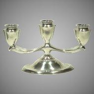 M H Wilkens &  Söhne 835 Silver Art Deco Candelabrum