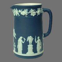 c1924 Wedgwood Dark Blue Jasperware Pitcher