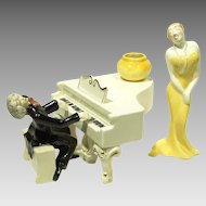 Brayton Laguna Pottery Group Maestro At Piano with Woman Singer