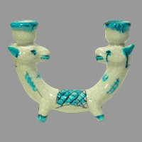 Art Deco German Groteque Pottery Candle Holder