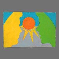 1968 Pop Art Painting by Janice Lefton de Luigi