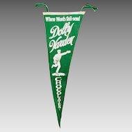Rare 1920s Dolly Varden Chocolates Advertising Pennant