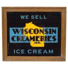 Art Deco Wisconsin Creameries Ice Cream Sign