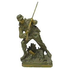 Civil War Soldier 19th Century Sculpture