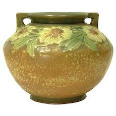 1920s Roseville Dahlrose Handled Vase #364-6