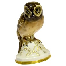 Vintage Hutschenreuther Owl Figure by Prof. Fritz Klee