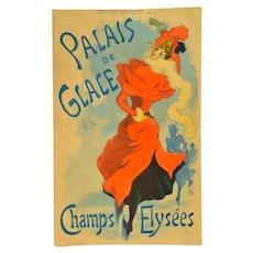 """1895 Jules Cheret Poster """"Palais de Glace"""""""