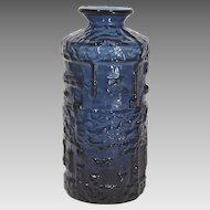 "1960s Gote Augustsson ""Cobolt"" Blue Glass Vase Sweden"