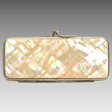 Antique Mother of Pearl Marquetry Evening Purse