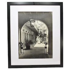 1938 Signed Francis Johnston Photo French Quarter Courtyard New Orleans