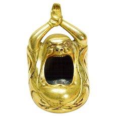 Japanese Brass Figural Incense Burner