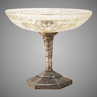 French Art Deco Pedestal Bowl