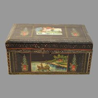 Antique Continental Hand Painted Box