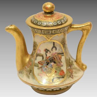 Unusual Miniature Satsuma Tea Pot