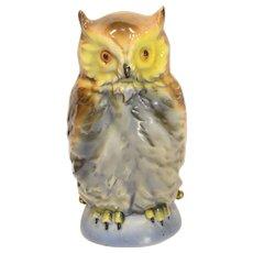 Vintage German Porcelain Owl Figural Light Light / Perfume Lamp