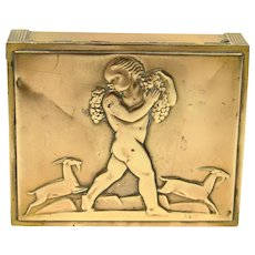 Rockwell Kent Bacchus Cigarette Box for Chase Brass & Copper Co.