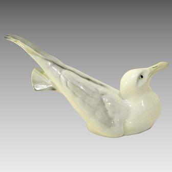 Large Porsgrund Norway Porcelain Gull Figure