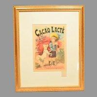 Cacao Lacte' by Lucien Lefevre Art Nouveau Poster Les Maitres de L'Affiche