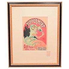 Pippermint byJules Cheret Art Nouveau Poster Les Maitres de L'Affiche