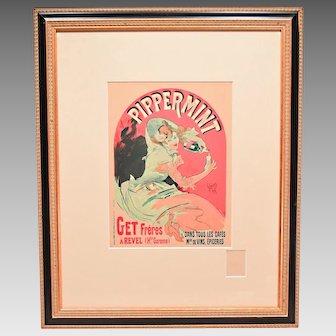 """""""Pippermint"""" by Jules Cheret Art Nouveau Poster Les Maitres de L'Affiche"""