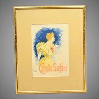 Camille Stefani by Jules Cheret Art Nouveau Poster Les Maitres de L'Affiche