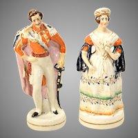Queen Victoria & Prince Albert Staffordshire Figures