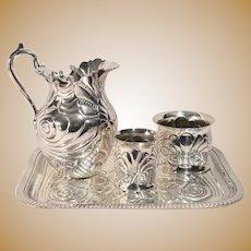 Opulent Victorian Meriden Britannia Co Silverplate Water Service