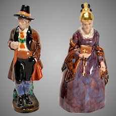 Pair of Gmunder Keramik Austria Figures circa 1920