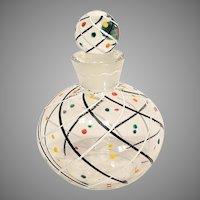 Art Deco Enameled Glass Perfume Bottle