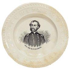 ABC Cup Plate Civil War General Q. A. Gillmore Portrait
