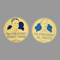 Herbert Hoover & Al Smith Portrait Flue Covers