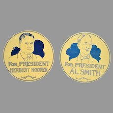 Herbert Hoover & Al Smith Portrait Flue Covers