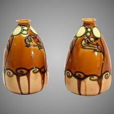 Pair of Minton Secessionist Vases
