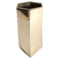 Afra & Tobia Scarpa Polygon MCM Sterling Vase