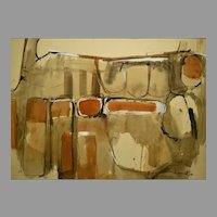 1963 Abstract by New Mexico Modernist Janet Lippincott