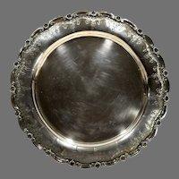 Vintage Porto Portugal Ornate Silver Tray