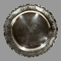Vintage Porto Portugal Ornate Silver Tray