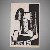 Jean Helion Original 1939 Block Print