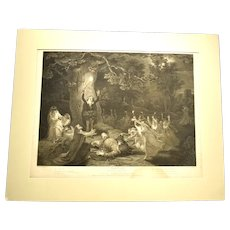 c1800 Engraving Shakespeare Merry Wives of Windsor by Isaac Taylor Jr.