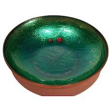 Arne Tjomsland Norway Rare Enamel Bowl