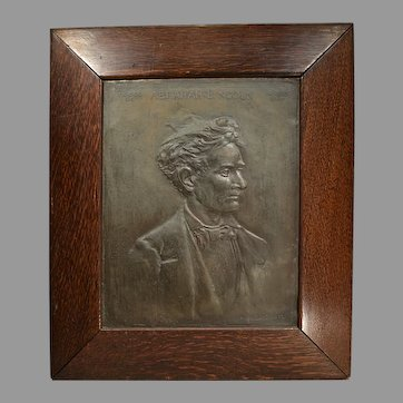 Rare 1892 Abraham Lincoln Bronze Plaque by H.H. Zearing
