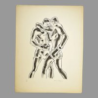 """La Boxe"" 1929 Portfolio by William Horace Littlefield"