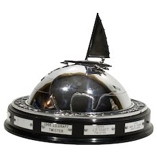 1948 Art Deco T E Mead Ice Boating Trophy