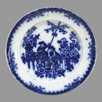 Chinese Bells Flow Blue Plate