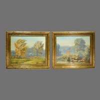 Pair Of American Impressionist Landscapes