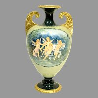 Willetts Belleek hand Painted Vase With Fairies